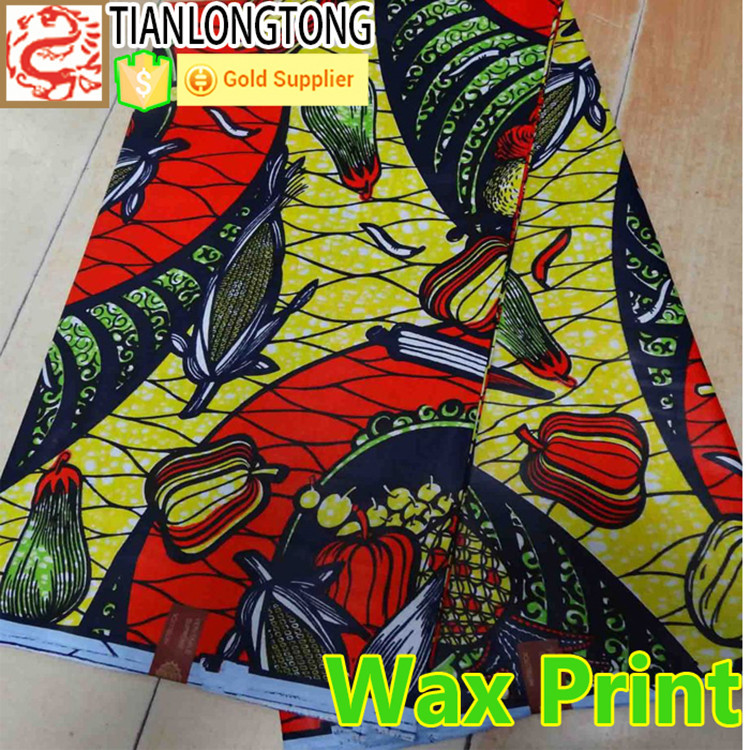 Java Wax 100% cotton good quality dutch wax cloth fabric