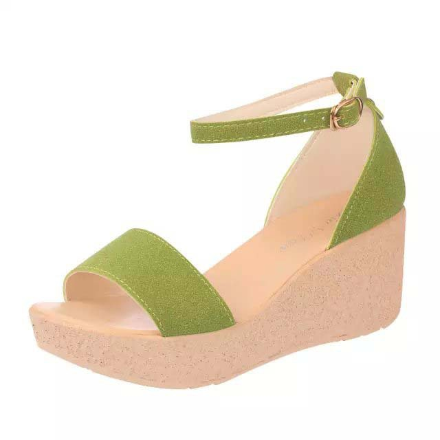 58b588a302ee Get Quotations · Summer New Sweety Solid Color Open-Toe Bohemia Women  Sandals High Heels Weomen Sandal Breathable