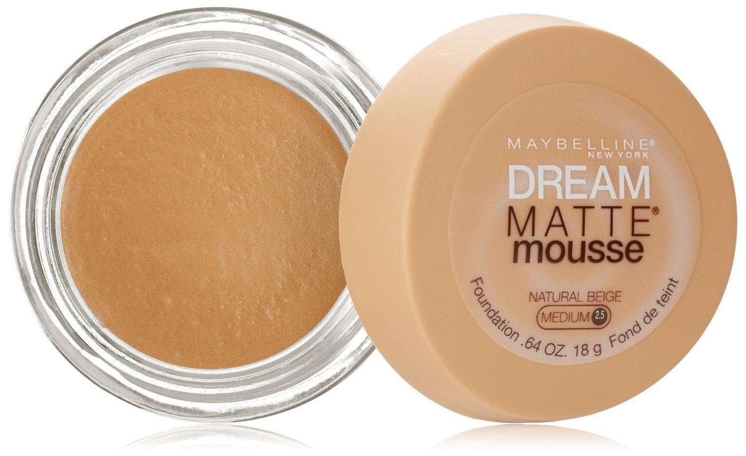Maybelline Dream Matte Mousse Foundation – Natural Beige (Medium 2.5)