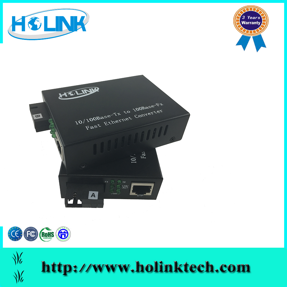 10/100Mbps Single Mode Single Fiber media converter Optical Fiber Meida Converter for CATV