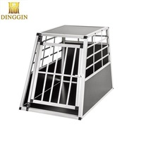 Car travel aluminum dog crate