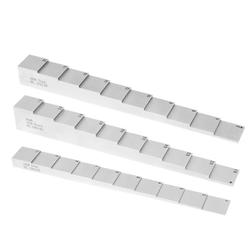 "4-step Calibration Block Standard Ultrasonic Gauge Thickness 0.25/"" 0.5/"" 0.75/"" 1/"""