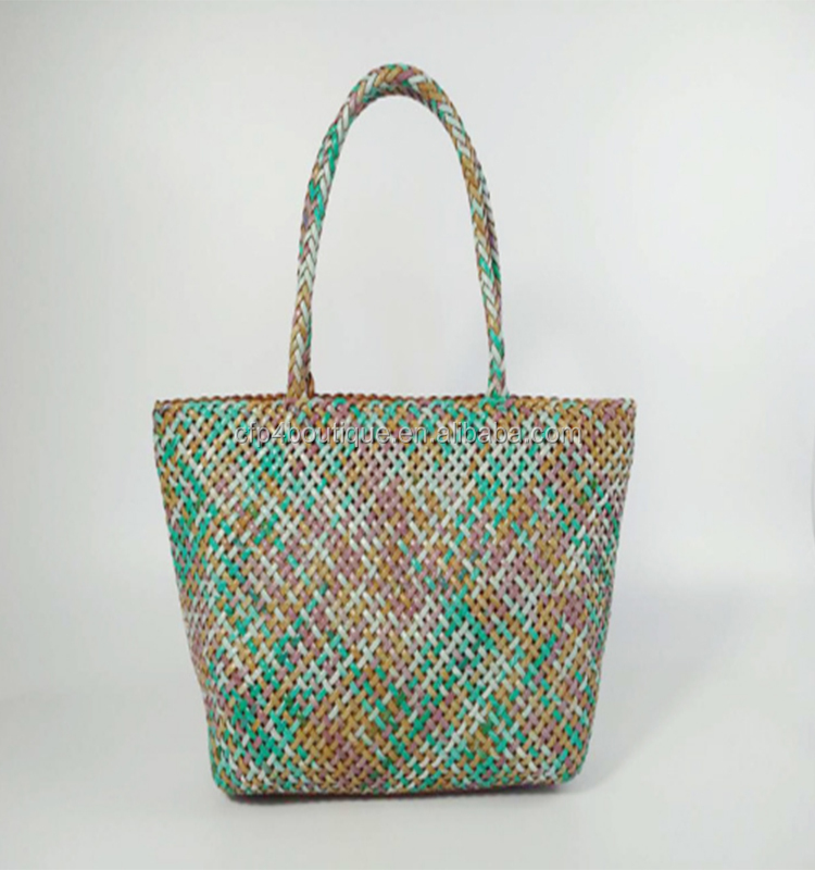 CFP B686 Wholesale Stocked Leather Woven Bag Woven Shoulder Bag Lady Hand Bag