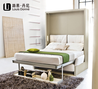European style hotel use folding wall bed with dining table