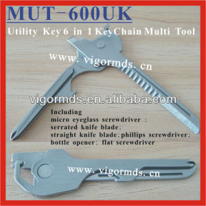 (MUT-600UK) 6 in 1 Mini Multipurpose Utility Key Tool