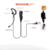 G Shape Ear Hook earpiece headset with flexible microphone for two way radio