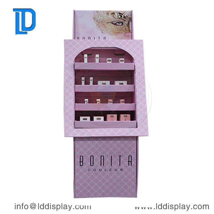 POS Display Shelf, POS Display Merchandising Cardboard, POS Display For Skincare Products