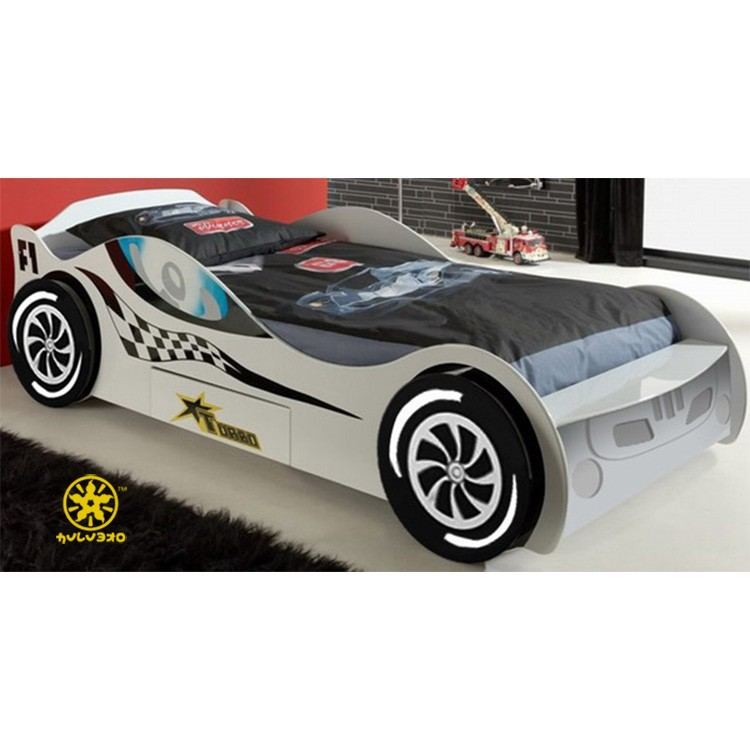 Hot-sale Cheap Kids Furniture Race Car Shape Bunk Bed