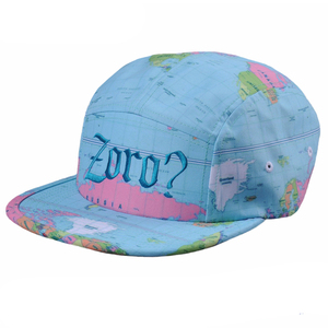 Custom high quality printed polyester 5 panel caps