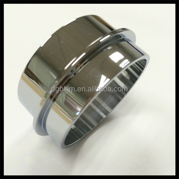 CNC turning machining chrome plated steel tube ISO 9001:2008