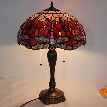 traditional tiffany 16 inch table lamp for home from the factory 16S4-48RT246