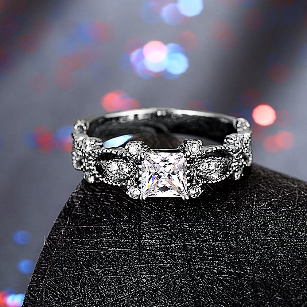 Square Diamond Wedding Rings for Women ally express cheap wholesale ring