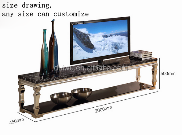 Living room furniture ornate marble tv stand made in China