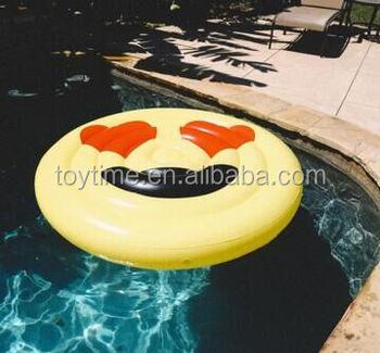 Giant Circular Emoji Swimming Pool Lounger Float,Inflatable Sun Lounger  Beach Raft - Buy Custom Swimming Pool Floats For Adult,Yellow Inflatable  Float ...