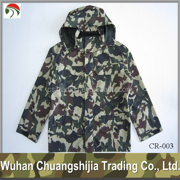 Military waterproof polyester rain jacket