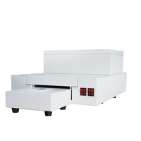 newest Digital desktop auto PVC CD DVD UV glossy oil coating coater machine