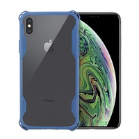 For iPhone XS case transparent,ultrathin bumper raised corner back phone cover for iphone xs shockproof case