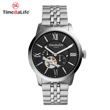 2017 Made In China Alibaba Import Visible Automatic Skeleton Mechanical Movement Men Wrist Watches