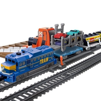 762cm kids diy plastic electric train track rail car toy vehicle set