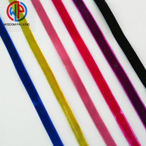 High Quality Wholesale Garment And Package Elastic Single Face Velvet Ribbon