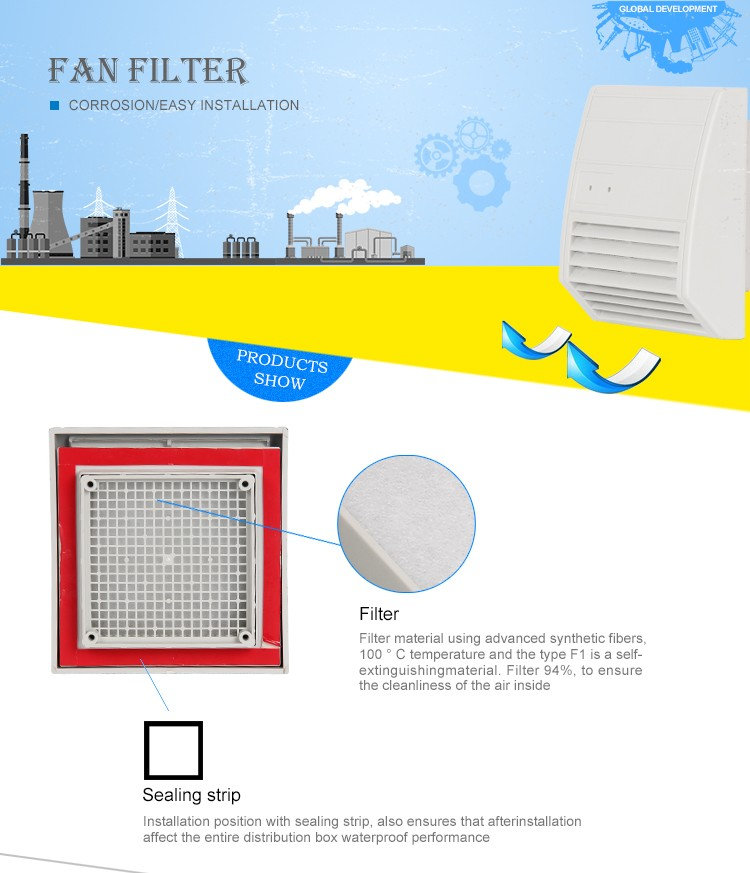 2015 China High Quality Fan Filter Unit / Air Filter FF 018 Series