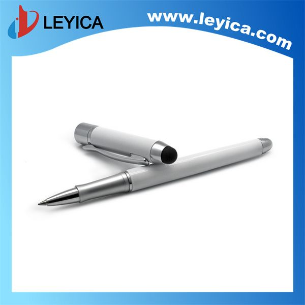 High quality metal roller pen with touch tip, white pen can be add clearly logo - LY-S065