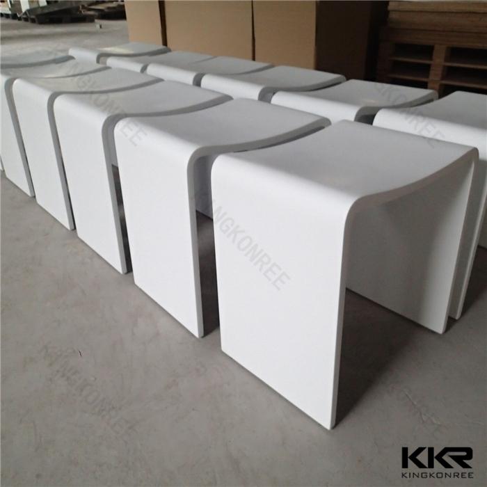 acrylic solid surface bathroom bench, bathroom stool, View ...