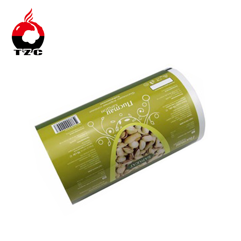 Laminated foil pouch packaging bag material printed film for roasted nut