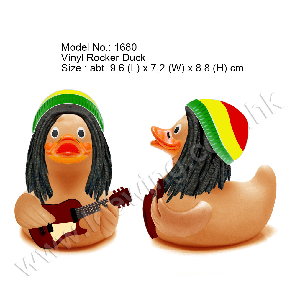 Fashion Rubber Duck 70s Rock N Roll Bob Marley