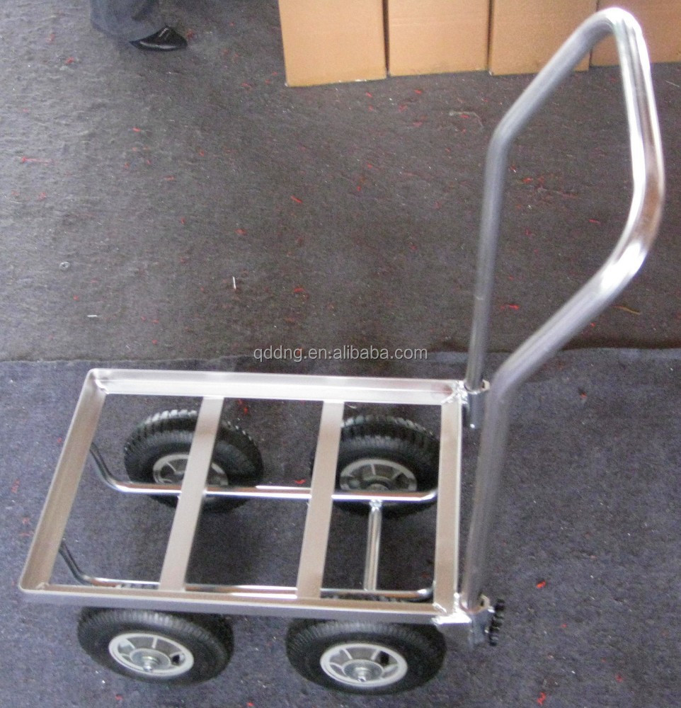 aluminium tool cart with 4 pneumatic wheels for warehouse Moving carts with 4 wheels TC4510AL