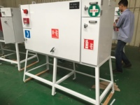 High quality long duration time custom stainless steel fire extinguisher cabinet