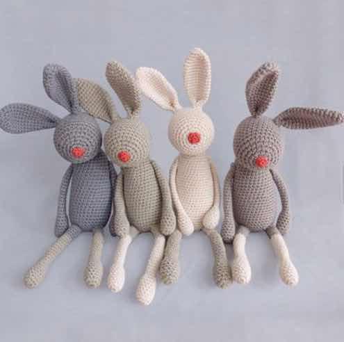 1Set Baby Rattles Crochet Amigurumi Elephant Owl Rattle Bell ... | 492x495