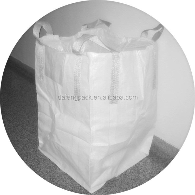 Durable cheap pp big bag for sand,cement,stone,rock,rubble, strong fabric jumbo bag, 1 ton 1.5 ton fibc bag from china
