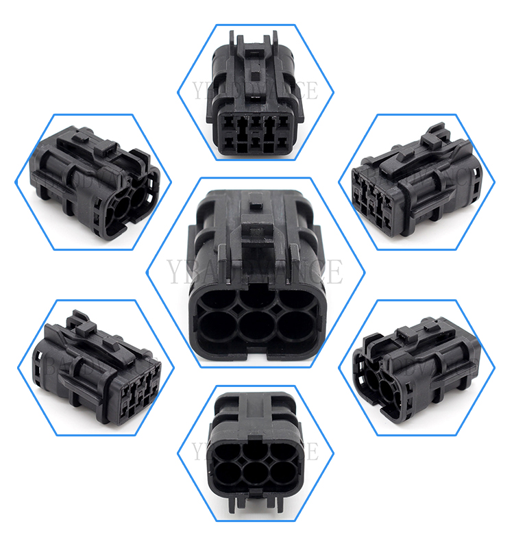 7123-7464-30 Automotive 6 Pin Waterproof Connector For Japanese Car
