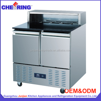 Commercial Fan Cooling  Doors Pizza Work Table With Marble Top