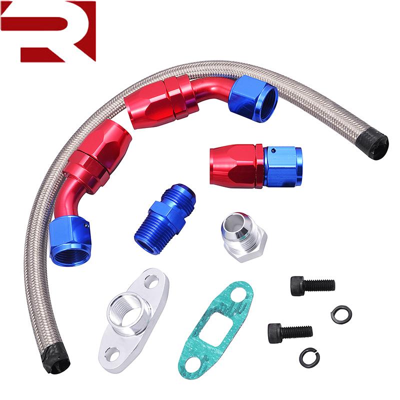 Fuel Supply & Treatment 10an Turbo Steel Braided Oil Drain Return Line T3 T4 T04e T70 T60 T61 An10