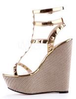 Buy comfort old ladies wedge shoes, genuine leather ladies boat ...