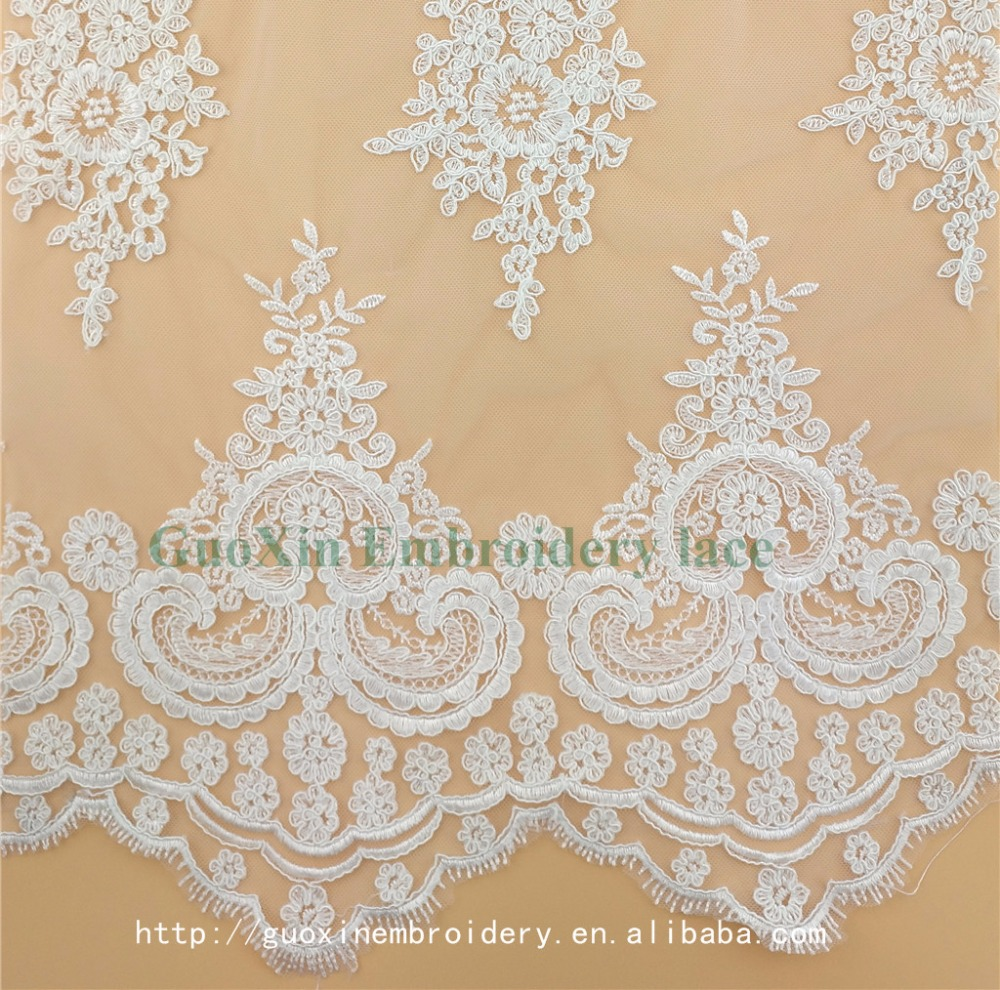Wholesale High Quality Embroidery Rayon/Nylon African Tulle Lace