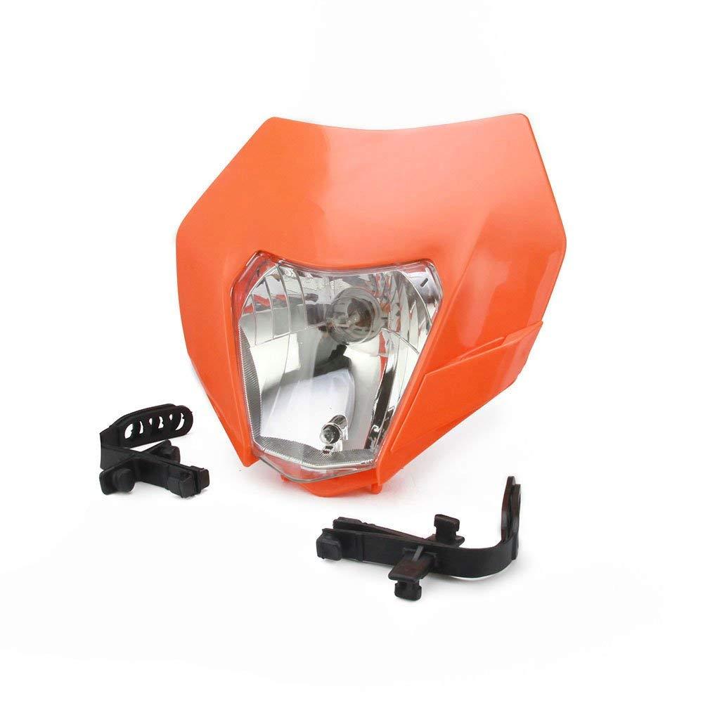 JFG RACING Dirt Bike Headlight Motorcycle Head Light Fairing Mask Day Running Light For 2017 KTM EXC250 SX250 SXF250 EXC450 SX350 SXF450 EXC525 640LC4 Dirt Bike Motocross Enduro Supermoto