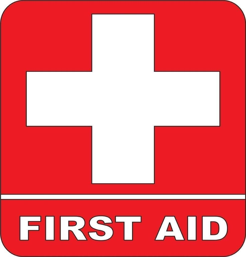 First aid Kit Emergency Symbol Logo sticker Picture Art - Peel & Stick Sticker - Vinyl Wall Decal - 24 Colors Available 9x9