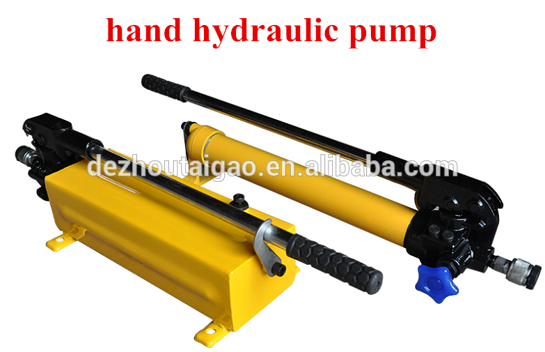3L double acting hydraulic hand pump with pressure gauge and hose