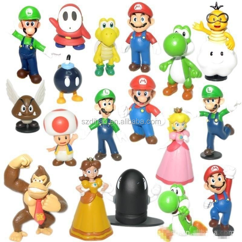 dihao super mario bros figur spielzeug 18 st ck puppe 1 3. Black Bedroom Furniture Sets. Home Design Ideas