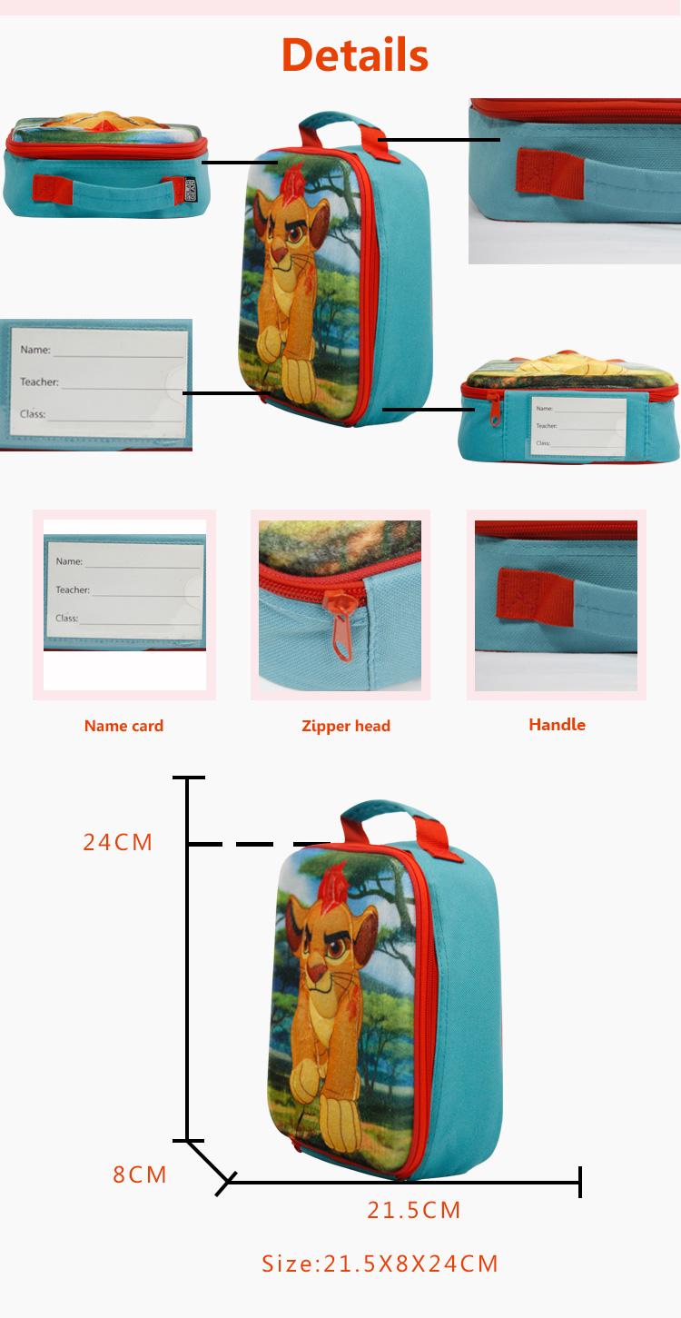 Impermeable térmico personalizado eco oxford niños aislado Oficina de hombro bolso bolsa de almuerzo aislada con contenedor