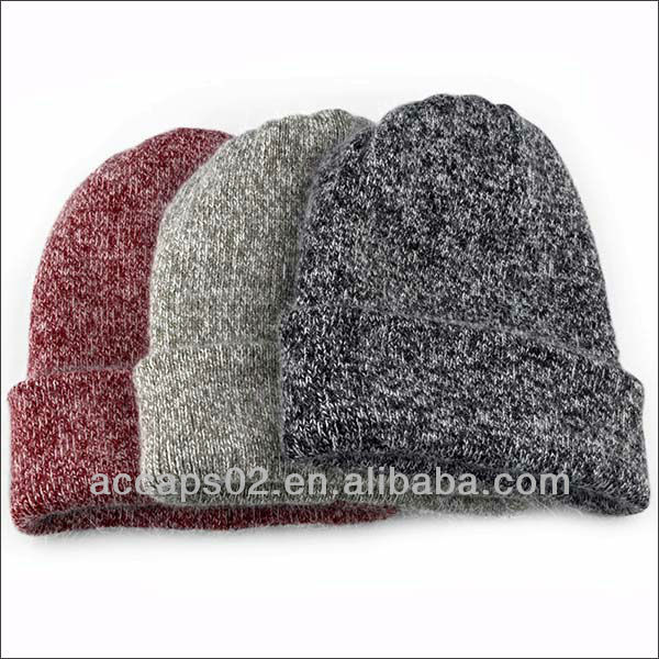 Colorful plain acrylic fitted long beanie blank