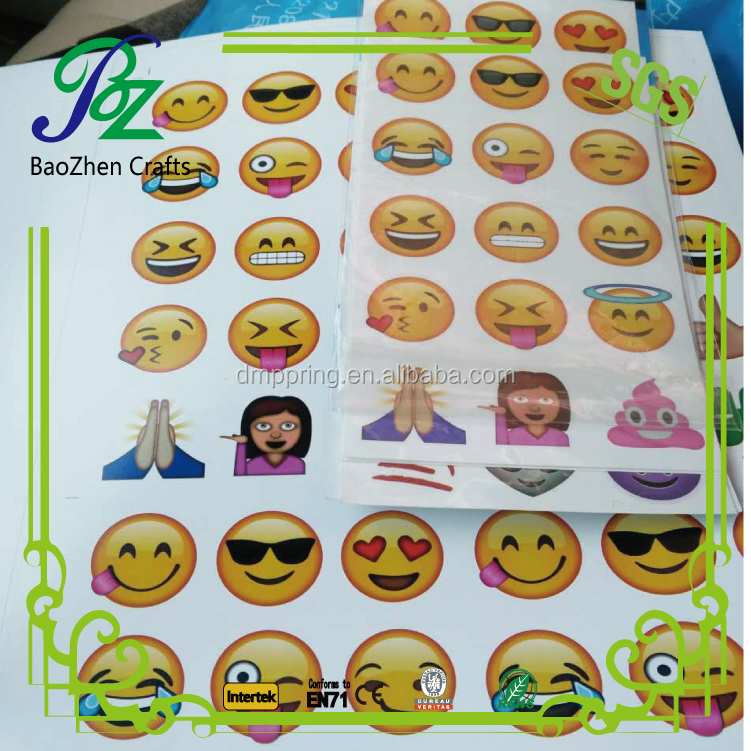 Custom funny transfer smile lips cartoon emoji tattoos/ emoji stickers