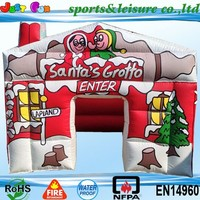 2015 funny inflatable santa tent, inflatable tent, cheap inflatable tent for sale