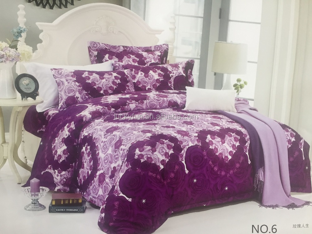 2016 High quality reactive printed 100% cotton bedding set fabric with flower design bed sheet fabric