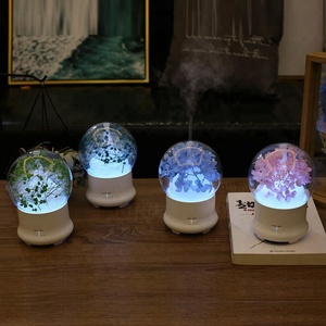 glass natural aroma flower diffuser portable ultrasonic essential oil diffuser