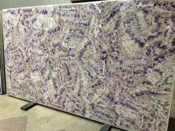 Gebanderte Amethyst Edelstein Arbeitsplatte Fliesen Tischplatte