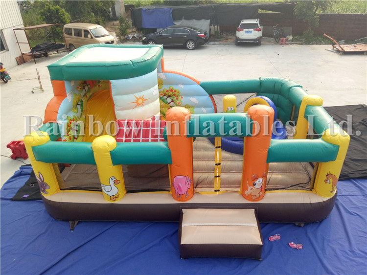 Factory Direct Farm Inflatable Castle Bouncer Combo,Commercial Bounce House With Slide For Sale